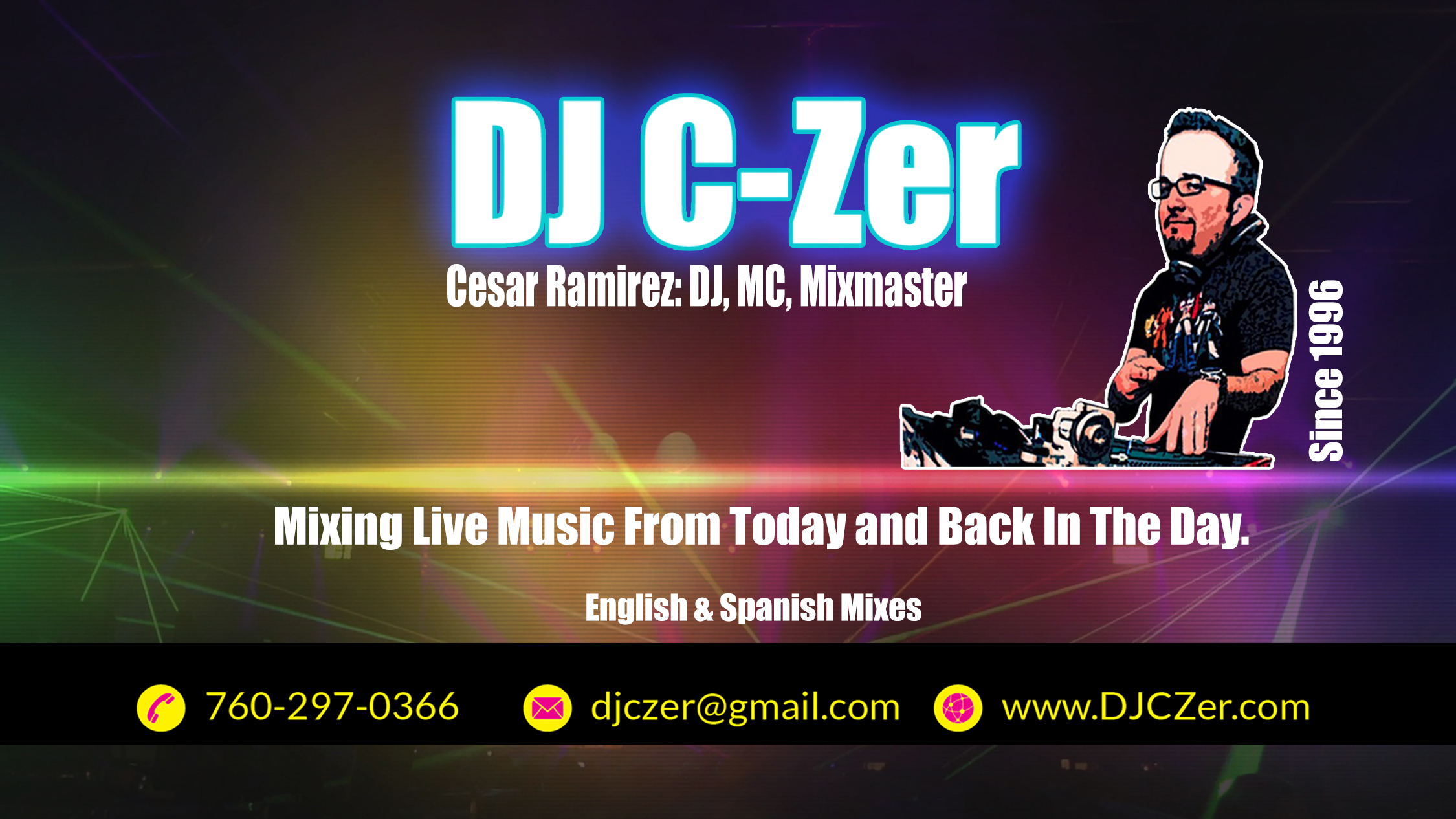 DJ C-Zer 2016 Business Cards