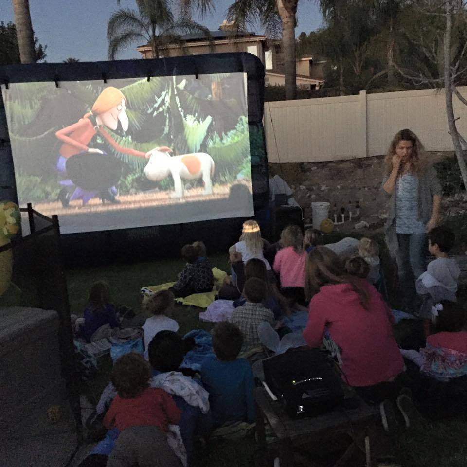 Movie Night Outside in the back yard!